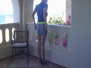 Striptease auf der Terasse