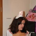 Krankenschwester auf Gynstuhl